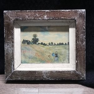 VTG made in Italy distressed framed Monet print